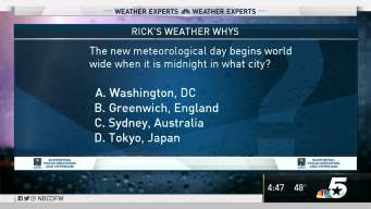 Weather Quiz: Meteorological Day Starts Where?