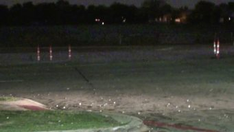 Hail Storm Moves Through Collin County