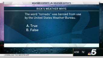 Weather Quiz: Use of Word 'Tornado'