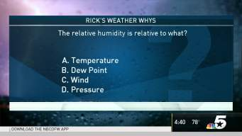 Weather Quiz: Relative Humidity Relates to What