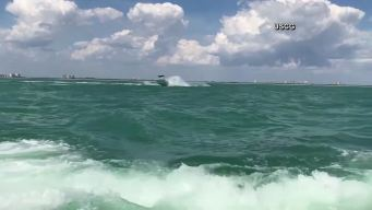 Runaway Boat Captured on Video