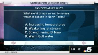 Weather Quiz: End to Severe Weather Season