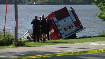 Stolen Fire Truck Ends Up in River
