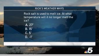 Weather Quiz: Rock Salt