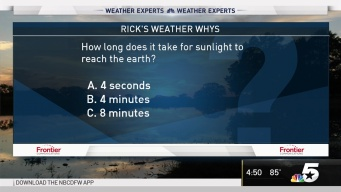 Weather Quiz: How Long Does it Take for Sunlight to Reach the Earth?