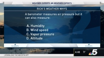 Weather Quiz: What Can a Barometer Measure?