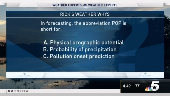 Weather Quiz: POP Abbreviation Stands For What?