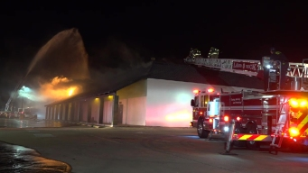 Fire Burns at Commercial Building in Dallas