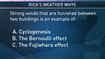 Strong Winds Funneled Between Buildings?