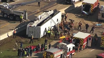 Authorities Investigate Irving Bus Crash