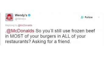 Wendy's Grills McDonald's Over Burger Meat Tweet