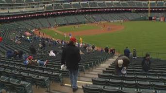 Frigid Temps Didn't Keep Fans Away from Rangers Ballpark
