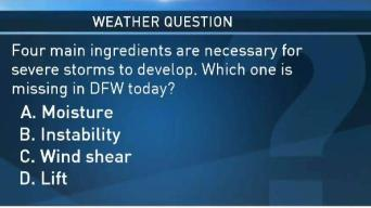 Weather Quiz: Ingredients Needed for Storms