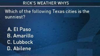 Weather Quiz: Which Texas City is the Sunniest
