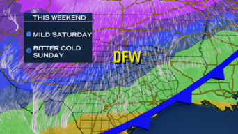 Bitter Cold, Chance of Snow This Weekend