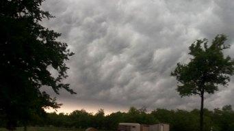 Behind Thunderstorm Line, Air is...
