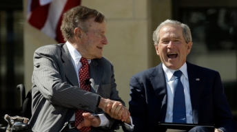 Elder Bush Speaks at Bush Library Dedication