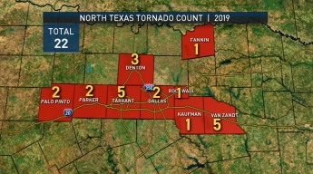 NWS Confirms Tornadoes Four Tornadoes in NTX Sunday