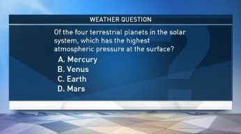 Weather Quiz: Which Planet Has the Highest Atmospheric Pressure at the Surface?