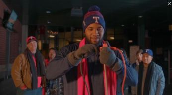 Andrus Channels Griswold in Rangers Holiday Card