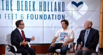 Former Texas Rangers Pitcher Derek Holland Helps Raise Money for Charity