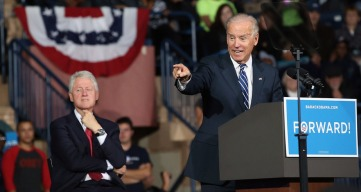 Bill Clinton, Joe Biden Fire Up Ohio Crowd