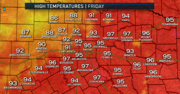 Cold Front Stalled Friday Before Reaching DFW