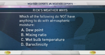 Weather Quiz: Atmospheric Moisture