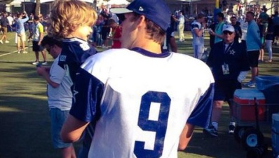 Romo's Son Steals the Show at Cowboys Practice