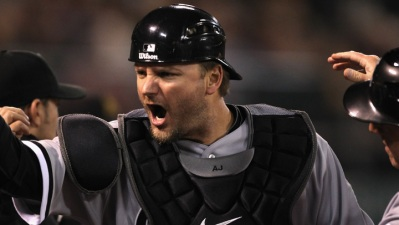 Pierzynski Meets With Rangers