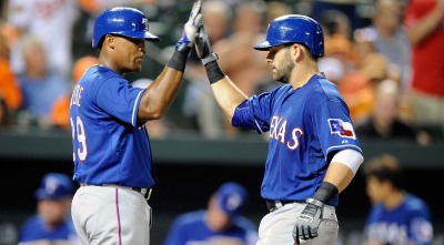 Moreland Hits 2 More HRs, Rangers Beat Orioles