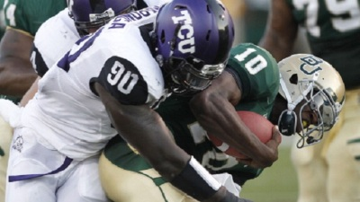 Potential Late-Round Target, TCU DE Stansly Maponga, Says His Foot's Fine