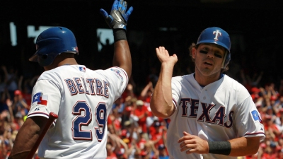 Kinsler Hits Winning Single Sunday