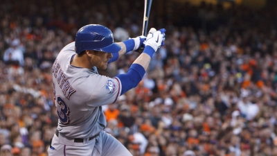 Gentry's Triple Takes Rangers Over A's