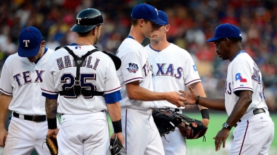 Grimm Roughed Up in Rangers Loss