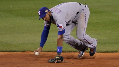Andrus Dabbles At Third Base