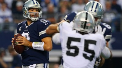 Cowboys Trail Raiders 21-14 at Half