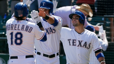 Rangers Players Meet, Then Hit, Then Win