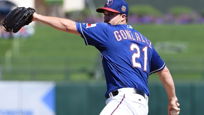 Rangers RHP Gonzalez Suffers Partial Ligament Tear