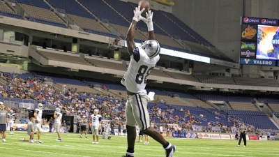 Storms Chase Cowboys Practice Indoors