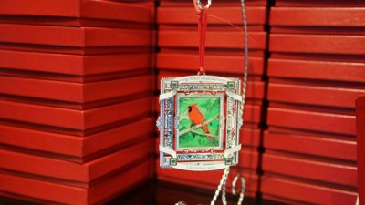 Bush the Painter Offers Christmas Tree Ornament