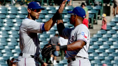 Andres, Rios Lead Rangers Over Angels