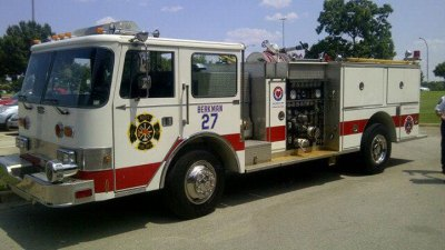 Lance Berkman Donates Fire Truck to West