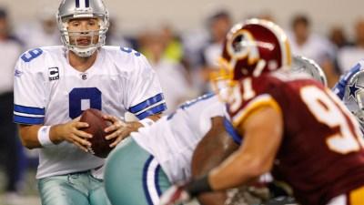 Cowboys Trail 'Skins At Half, 14-10