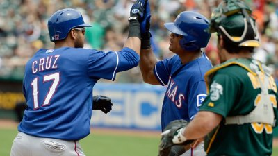 Cruz Hits 3-Run HR; Rangers Beat A's