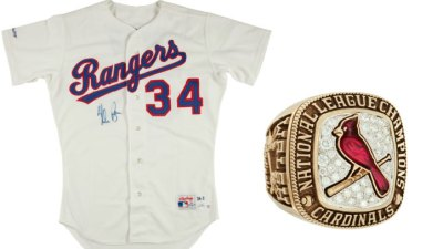 Rare Rangers, Cardinals Items Up for Auction