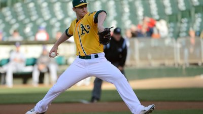 Parker's Gem Helps A's Beat Rangers 12-1