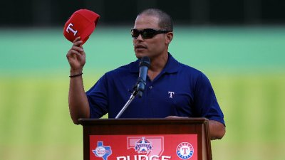 """Pudge"" Rodriguez To Represent Rangers At MLB Draft"