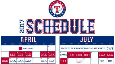 Rangers Open 2017 at Home vs. Cleveland