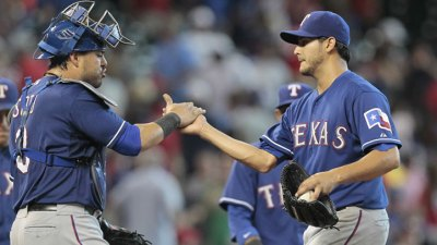 Perez Finishes CG; Rangers Win 7th Straight